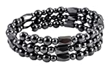 Magnetic Simulated Hematite Beaded Necklace, Wrap Bracelet, Anklet