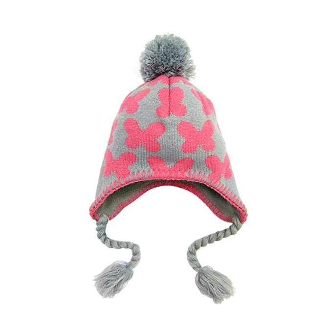 fangkuai-hat Sombrero de Punto Niños Invierno Exterior Mariposa ...