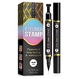 Eyeliner Stamp – Winged Eyeliner in Seconds – Easy to Use, Waterproof & Smudge Proof, Long Lasting Liquid Black Eye…