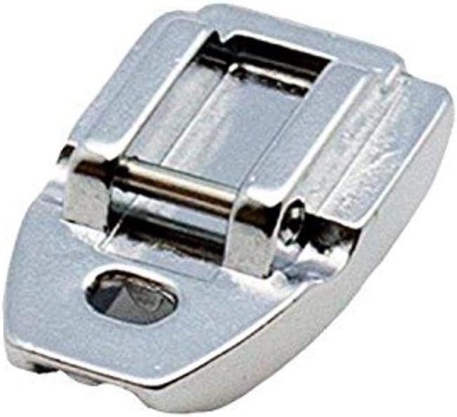 Alfa Prensatelas para cremalleras invisibles, accesorio para máquina de coser, acero inoxidable