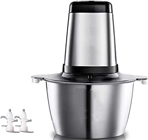 Food Processor/Food Grinder – Meat Grinder Vegetable Chopper Food Chopper Garlic Chopper Household Electric Small Stainless Steel Multifunctional Mixer 2L Food Processor 200W
