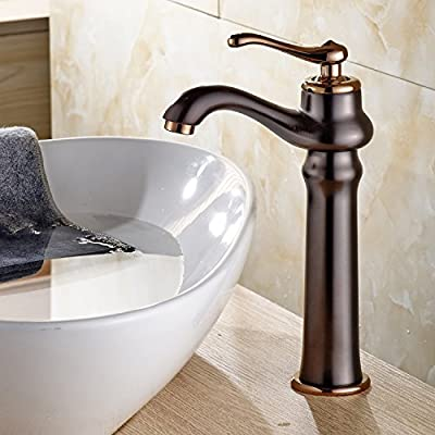 Rozin Copper Color Countertop Faucet Single Hole Bathroom Sink Mixing Tap