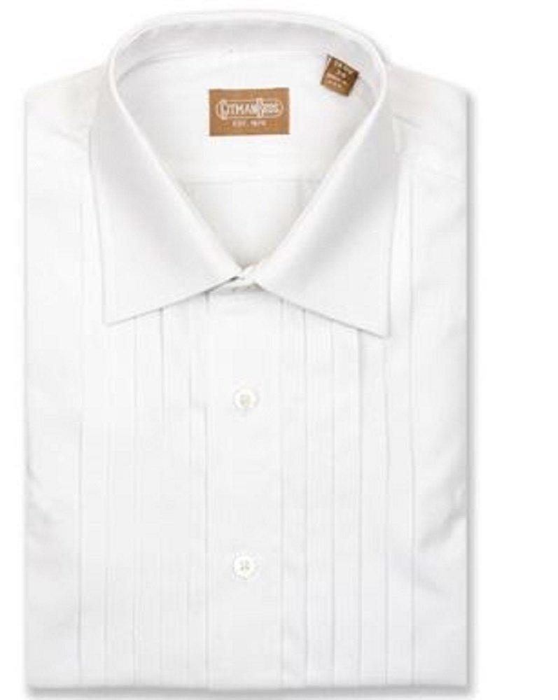 Gitman Bros Tall Man 5 Pleat Spread Collar Tuxedo Shirt Size 18 x 36