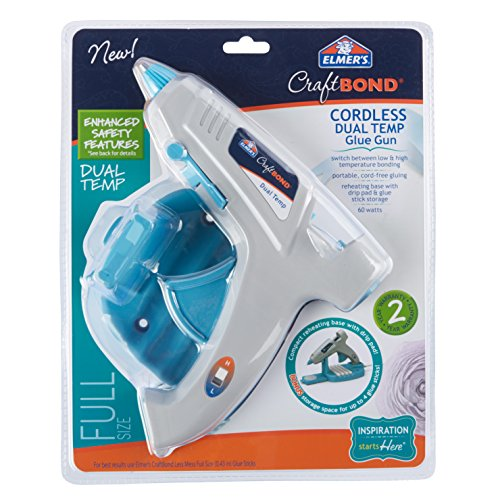 Elmer's Craft Bond Dual Temp Cordless Hot Glue Gun, 60W (E6052)