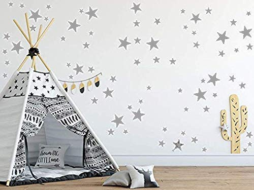 Wall Metallic (Removable Wall Decals for Kids Room Decoration +