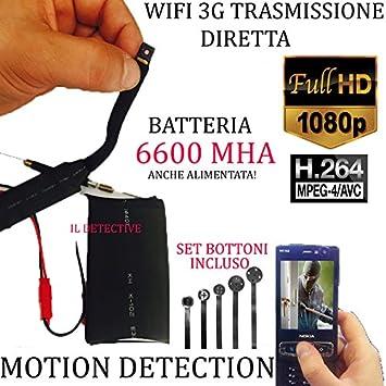 Micro cámara espía Wifi Cámara Espía Oculta a Video Transmisión directa P2P: Amazon.es: Electrónica