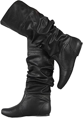 Fashare Womens Slouch Flat Mid Calf