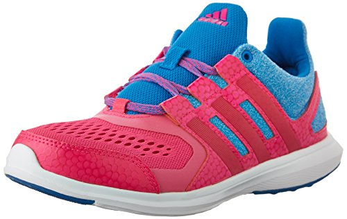 adidas Performance Hyperfast 2.0 K Running Shoe (Little Kid/Big Kid),Shock Blue/Shock Pink/Bold Pink,6 M US Big Kid