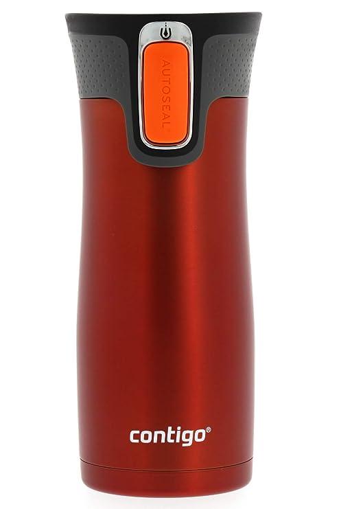 Amazon.com: Taza para viaje de acero inoxidable y cierre ...