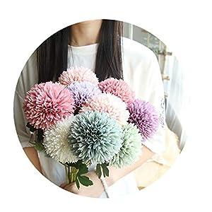 Sevem-D New Silk Dandelion Flower Ball Home Bedroom Table Decoration Fake Flower Wedding Hand Holding Flower 29