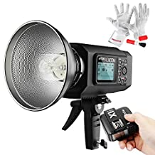 Godox AD600M Godox Mount 600Ws GN87 High Speed Sync Outdoor Flash Strobe Light with 2.4G Wireless X System, 8700mAh Battery to Provide 500 Full Power Flashes Recycle in 0.01-2.5 Second (With X1N Trigger for Nikon)