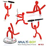 GadgetMarket Multi-Boy│New Flexible Magnetic Hobby Toy Friend & [Cell Phone Holder] - [Photo Stand] - [Toothbrush Holder] [7 Pcs]