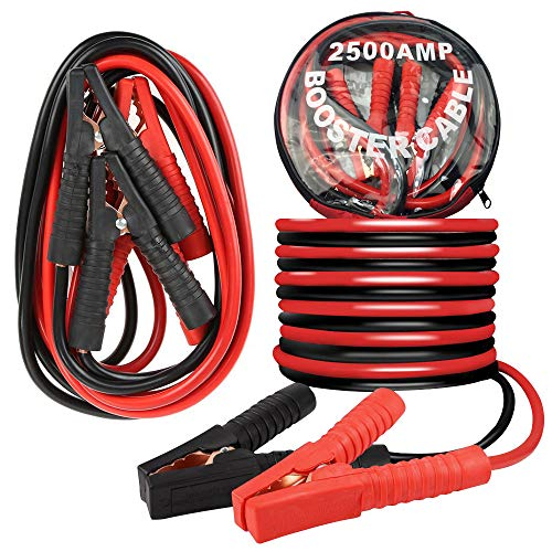 600amp 3.6m Heavy Duty Booster Cables Zipped Carry Bag Terratek Professional Jump Leads 600amp-1200amp Insulated