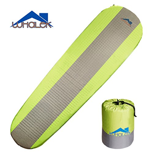 Whalek Self Inflating Sleeping Pad Lightweight Foam Padding and Superior Insulation Great For Hiking & Camping Thick Outer Skin Backpacking
