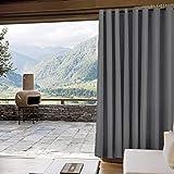 "Outdoor Curtain Antique Bronze Grommet Eyelet Grey 120"" W x 84"" L"