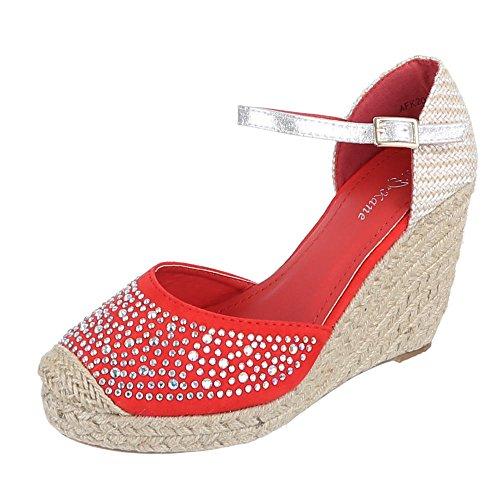 Ital-Design - Zapatillas de casa Mujer Rojo - rojo