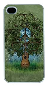 Guitar Tree PC Case Cover for iPhone 4 and iPhone 4s White