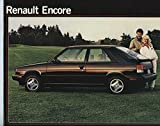1985 Renault Encore Large Brochure