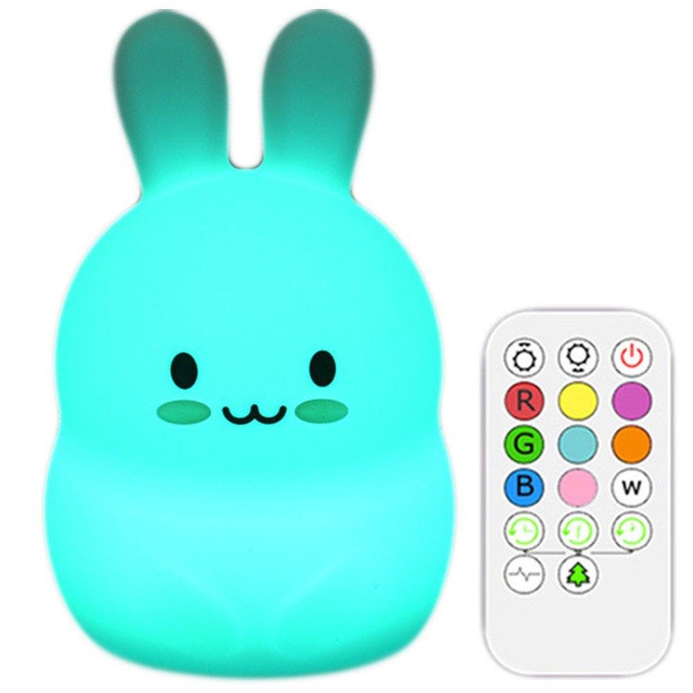 Xmeilo かわいい動物の充電式シリコンベビーLED子ども部屋用ナイトライトランプ タッチセンサー付き リモコンとタイマー付き M B07FVP2XSK M FBAlight3rabbit Xmeilo うさぎ B07FVP2XSK, 安全くん:d53c323c --- ijpba.info