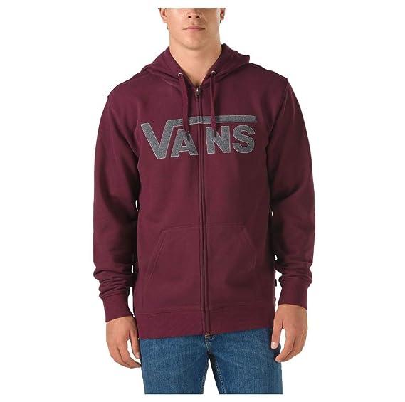 31f46725 Vans Men's Drop V Full Zip up Hoodie