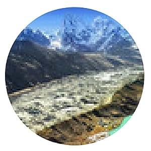 alfombrilla de ratón Hermosa vista desde Gokyo Ri, región de Everest, Nepal - ronda - 20cm