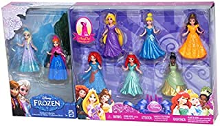"Disney Princess 3.75"" MagiClip Figurines 8-Piece Collection - Including Frozen's Anna & Elsa (B00OJTDT5G) 