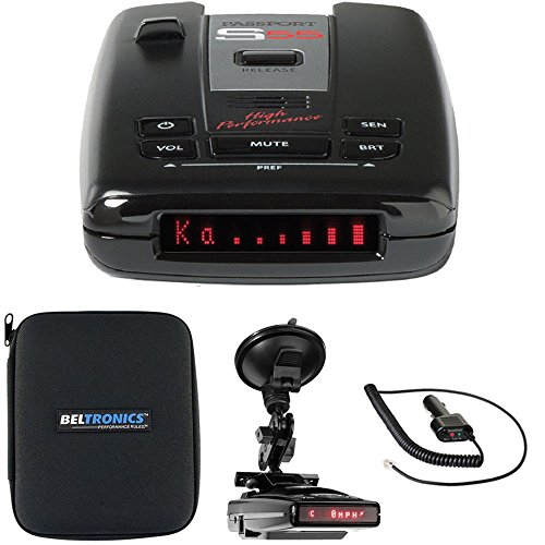 Escort Passport S55 High Performance Radar /Laser Detector with RadarMount Suction Mount Bracket For Radar (Maximum Performance Radar)