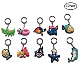 iMagitek 10 Pack Ocean Sea Animals Keychains Toy, Under the Sea Theme Party Supplies Favors, Marine Animals Key Chains Best Gift Toys for Kids
