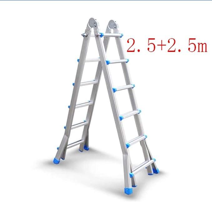 YIXINY escalera telescópica de espiga, escalera plegable para el hogar, aleación de aluminio, escalera de ingeniería portátil de doble propósito: Amazon.es: Bricolaje y herramientas