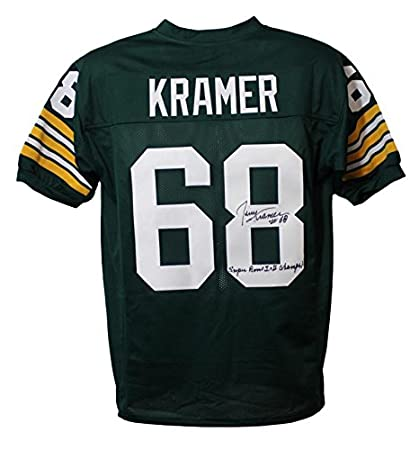 Image Unavailable. Image not available for. Color  Jerry Kramer Autographed  Green Bay Packers XL Green Jersey SB Champs be3f8d6f7