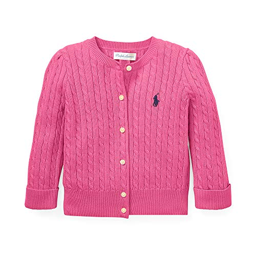 Polo Ralph Lauren Baby Girl's Cable-Knit Cardigan, 24 Months, Pink