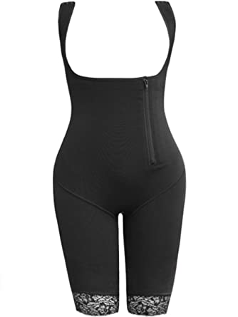 4c32000f5e4ef Image Unavailable. Image not available for. Color  Topmelon Plus Size Open  Bust Shapewear Bodysuit Strengthened Thigh Slimmer ...