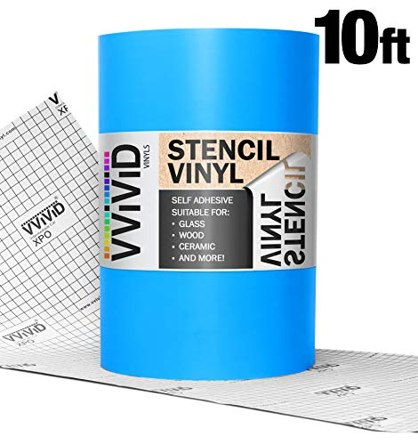 VViViD Blue Low-Tack Adhesive Vinyl Stencil Masking Film Roll (12