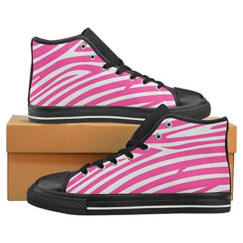 Interestprint Kick Bästa Klassiska Tillfälliga Duk Mode Skor Utbildare Gymnastik Zebra