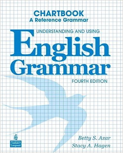Understanding and Using English Grammar Chartbook: Betty ...