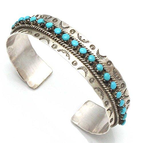 L7 Enterprises Sterling Silver & Turquoise Zuni Bracelet by ()