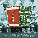 Mini Football Popcorn Party Favor Boxes
