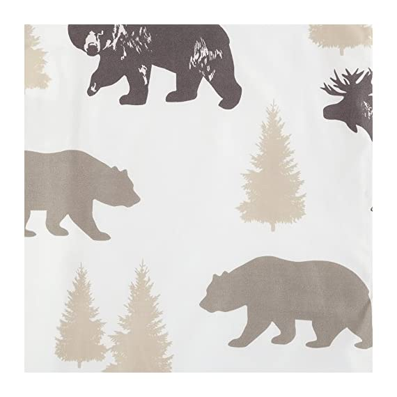 Great Bay Home 4-Piece Lodge Printed Ultra-Soft Microfiber Sheet Set. Beautiful Patterns Drawn from Nature, Comfortable… - LODGE PRINTED PATTERNS: Choose from a variety of beautiful, fade-resistant patterns drawn from the life of the American forest.. Each set comes with 1 fitted sheet, 1 flat sheet and 2 pillowcases (1 for Twin size). HOTEL/SPA QUALITY: These affordable microfiber sheets feel silky smooth against your skin. They're made from 90 GSM material that keeps you cool in the summer and toasty warm in winter. This 100% polyester fabric is WARM, SOFT, FLEXIBLE, and BREATHABLE for maximum sleep comfort. PERFECT FIT EVERY TIME: These DEEP POCKET sheets fit mattresses up to 17 inches deep, with a fully elasticized fitted sheet. They're available in Twin, Full, Queen and King sizes to fit any bed. See below for exact measurements. - sheet-sets, bedroom-sheets-comforters, bedroom - 51Eq09H1N5L. SS570  -