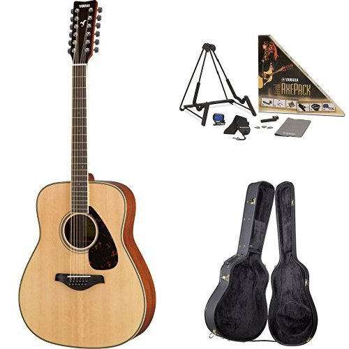 (Yamaha FG820 12-String Acoustic Guitar, with Yamaha Guitar Case and Accessories)