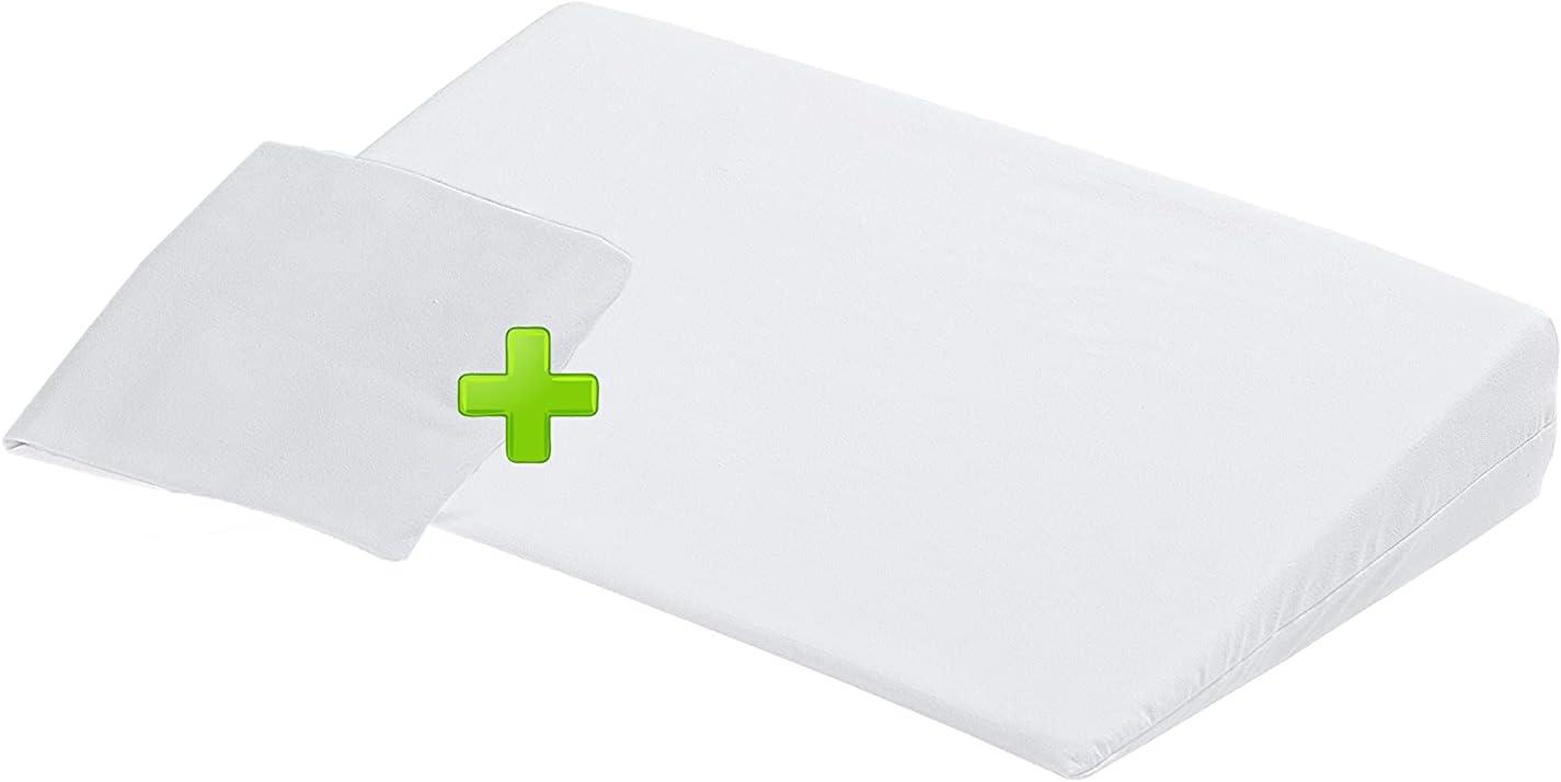 Baby Nana - Almohada antireflujo para recién nacido, fabricada en Italia (+ funda adicional) antiácaros Clean&Fresh | Oeko-tex® | Ideal para cuna | Transpirable, antialérgico, higiénico y lavable