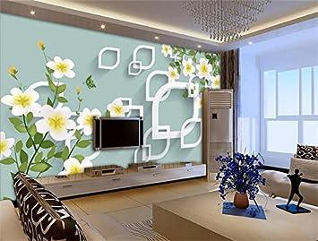 Whian 3D Papel Pintado Mural Sala De Estar Dormitorio Flores ...