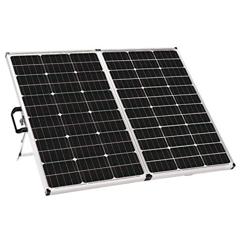 Zamp solar 140-watt Portable Charger Kit. Suitcase/Folding Solar Panel Kit. Solar Charger Includes 10-amp Waterproof Charge Controller for Safe Battery Charging. Battery Charger for Camping and RV's.