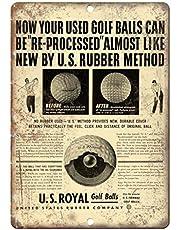 Us Royal Fairway Golf Balls Lichtgewicht metalen tin plaque stevige en duurzame retro look die nooit vervaagt 20 * 30 cm