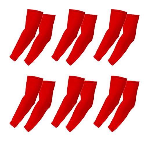Elixir Arm Sleeves 6 Pairs Bundle Pack for Cycling, Golf, Tennis, Hiking and Outdoor Activities, 6 Pairs Red by The Elixir Golf (Image #6)