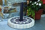 Outdoor Interiors 20'' Natural Stone Mosaic Umbrella in Sundance Sandstone, Sundance- Sandstone