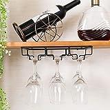 OUYAWEI Kitchen-Hanging-Baskets Iron Wall Mount Wine Glass Hanging Holder Goblet Stemware Storage Organizer Rack Three-Row