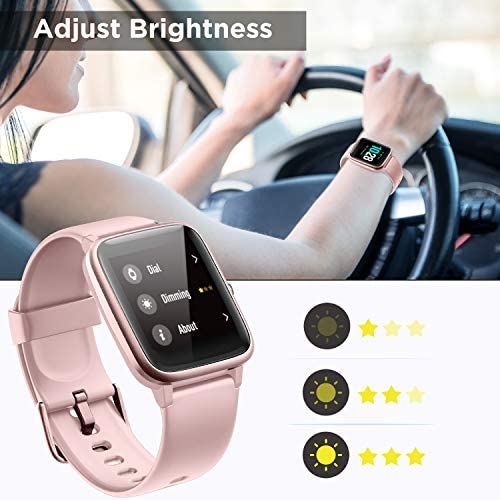 ANBES Health and Fitness Smartwatch with Heart Rate Monitor, Smart Watch for Home Fitness Tracking, Yoga, Exercise Bike, Treadmill Running, Compatible with iPhone and Android Phones for Women Men 51Eq2De 2BimL