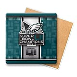 Philadelphia Eagles Super Bowl LII 52 Champions Coaster Stone (Package Of One)