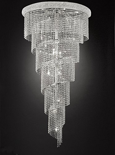 French Empire Empress Crystal(tm) Chandelier Chandeliers Lighting H 54″ W 30″