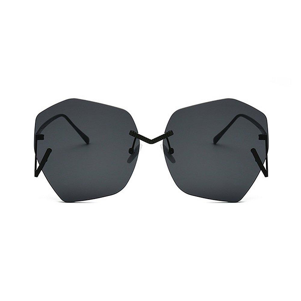 Personalidad gafas de sol viajando de grandes de la señora irregular ...
